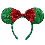Disney Holiday Headband - Ears Hat - Minnie Mouse Ear with Bow - Green