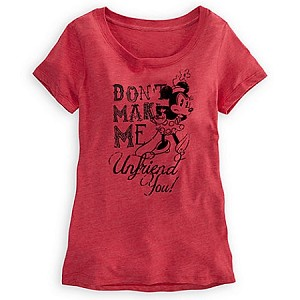 Disney Shirt for WOMEN - Don't Make Me Unfriend you - Minnie Mouse