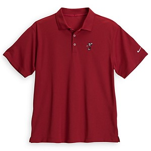 Disney Polo Shirt for Men - Mickey Mouse Golf Shirt by Nike - Red