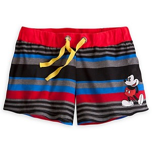 Disney Shorts for Women - Mickey Mouse Lounge Shorts - Stripes