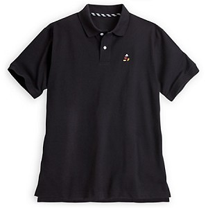 Disney Polo Shirt for Men - Classic Mickey Mouse - Black