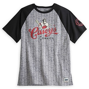Disney Mens Shirt - Twenty Eight & Main - Casey Corner Raglan Baseball