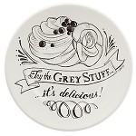 Disney Dessert Plate - Be Our Guest - Try the Grey Stuff - White