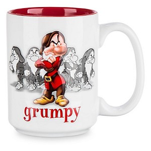 Disney Coffee Mug Raised Character Grumpy