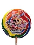 Disney Parks Lollipop - Mickey and Friends Multicolored Swirl - 2 oz