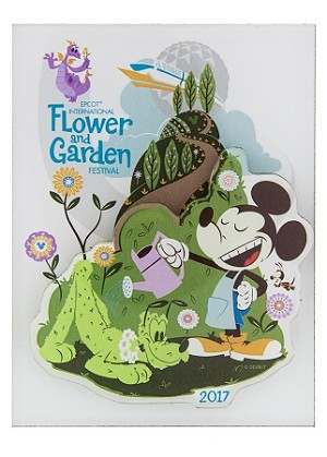 Disney Magnet Epcot Flower And Garden Festival 2017 Mickey Pluto