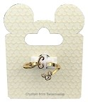 Disney Ring - Mickey Mouse Initial - Gold