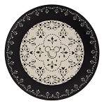 Disney Dinner Plate - Mickey Mouse Icons - Black and Cream
