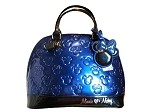 Disney Loungefly Tote Bag - Mickey and Minnie Mouse Embossed - Blue