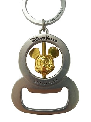 disney keychain rotating mickey mouse bottle opener. Black Bedroom Furniture Sets. Home Design Ideas