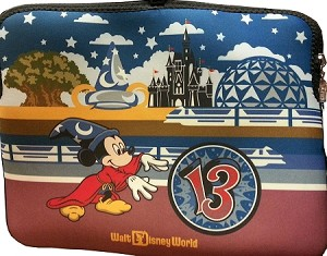 Disney Laptop Sleeve - 2013 Reversible Sorcerer Mickey Mouse