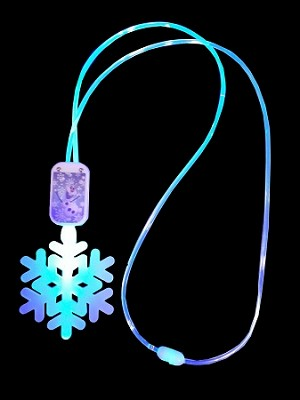 Disney Frozen Necklace Snowflake Glow Lanyard Light Up
