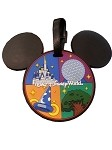 Disney Luggage Bag Tag - Mickey Mouse Icon - Four Parks