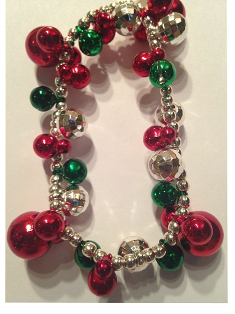 Disney Stretchy Bracelet - Christmas Mickey Mouse Icons and Bells