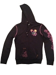 Disney Hoodie for Women - Peace Love Mickey Zip Up - 1971