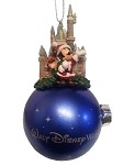 Disney Christmas Ornament - Cinderella Castle and Santa Mickey Mouse