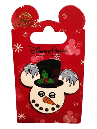 Disney Christmas Pin - Mickey Mouse Snowman