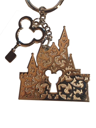 Disney Keychain - Cinderella Castle with Mickey Mouse Key