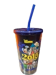 Disney Tumbler with Straw - 2015 Mickey Mouse - Walt Disney World
