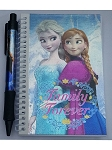 Disney Autograph Book and Pen - Frozen - Elsa & Anna - Family Forever