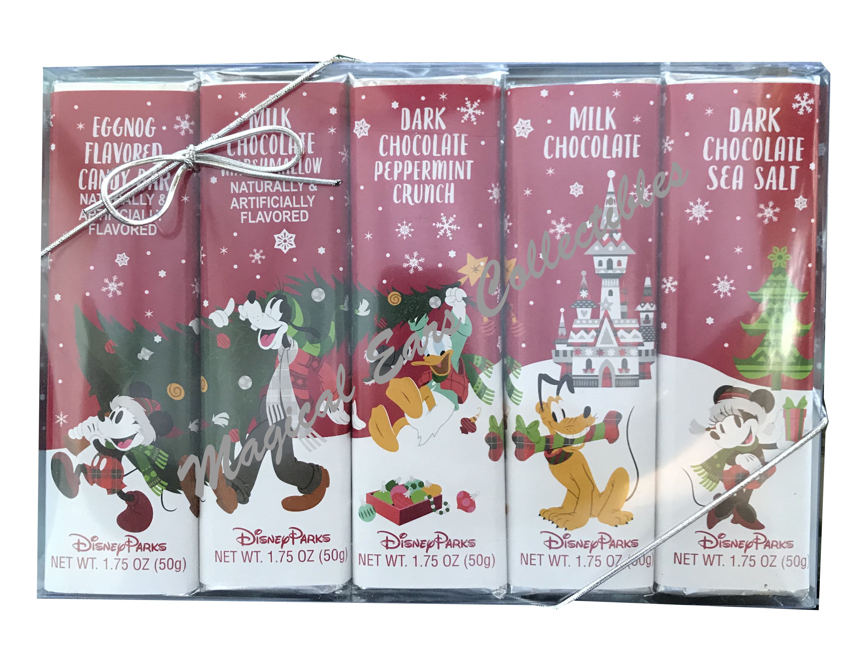 Disney Chocolate Candy Bars - Christmas - Mickey and Friends - 5 Bars