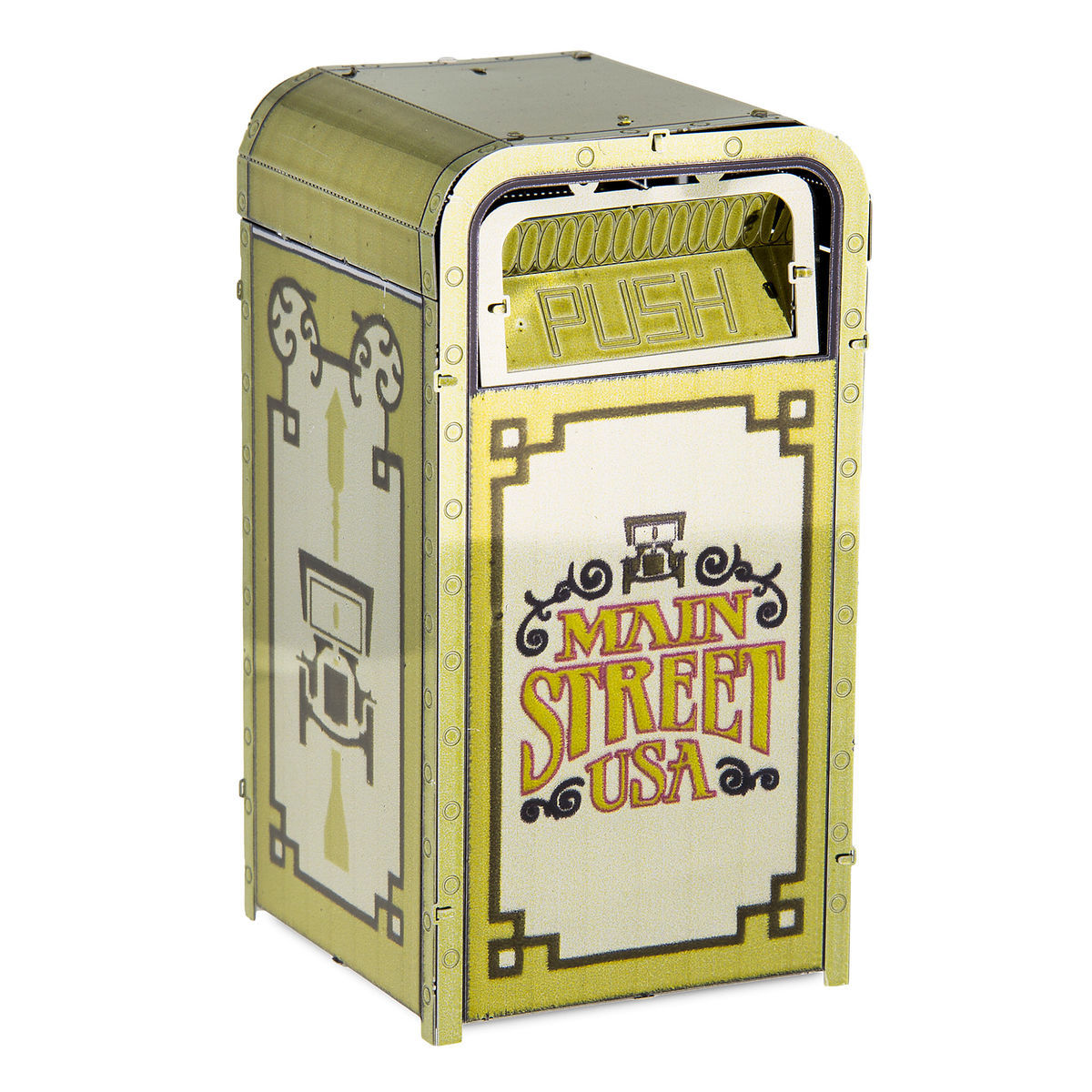 Disney 3D Model Kit - Main Street Trash Can - Metal