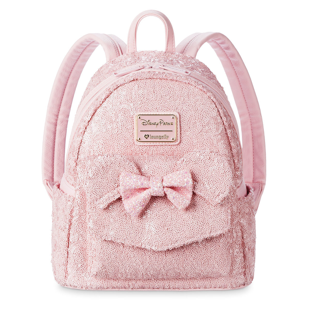 2b467290e65 Add to My Lists. Disney Loungefly Backpack - Minnie Mouse Sequined - Light  Pink