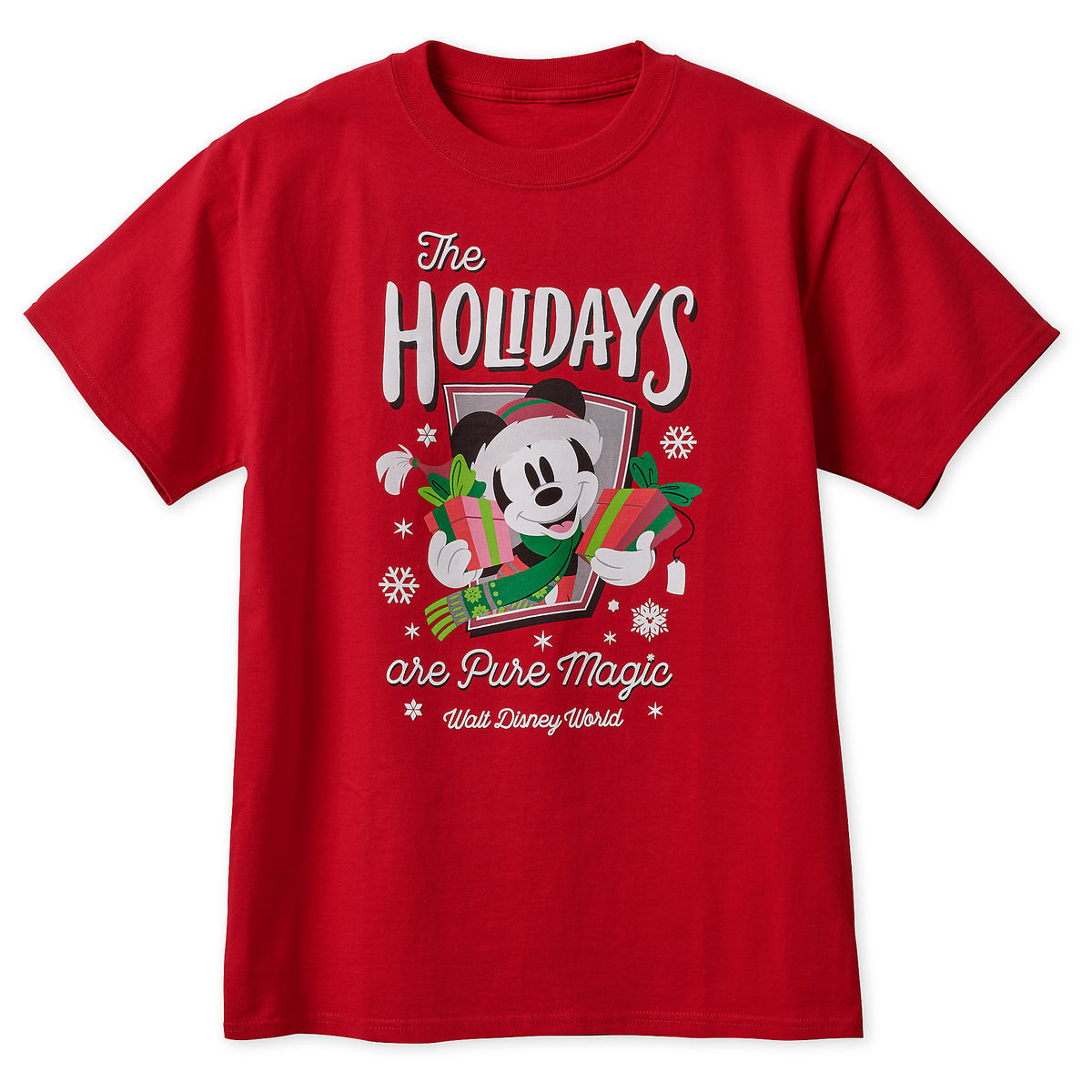 46eb6e3cd2a3e Disney Adult T-Shirt - Mickey Mouse Holiday - Walt Disney World - Red