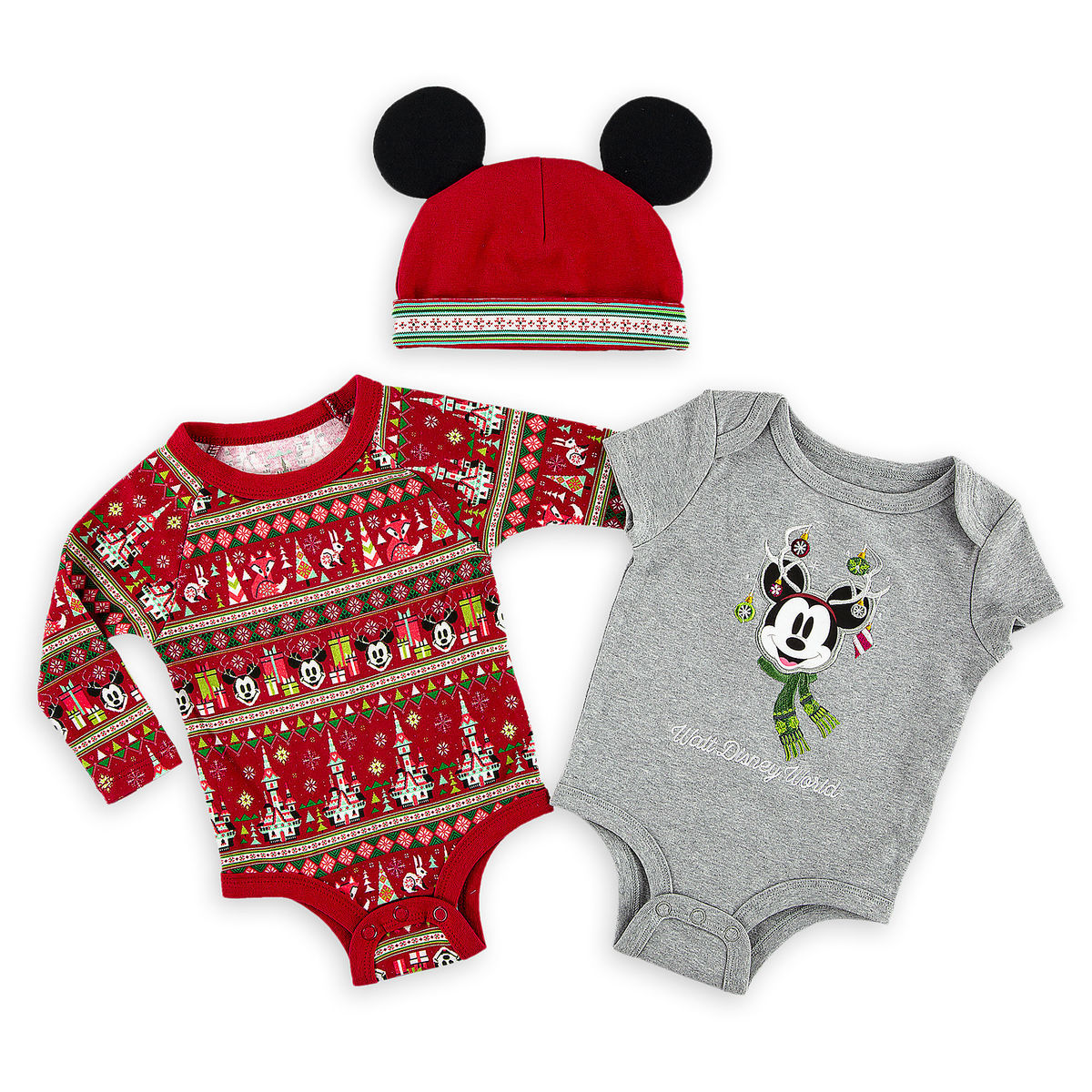 Disney Baby Bodysuit Set - Mickey Mouse Holiday - Walt Disney World