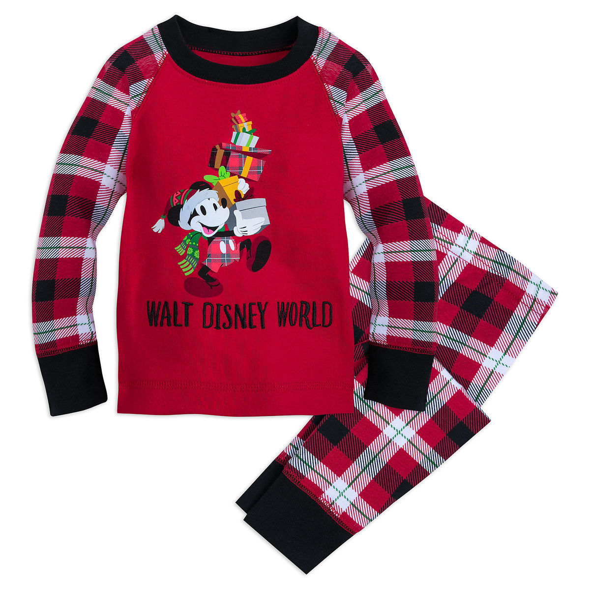 Disney Pajama Set for Baby - Santa Mickey Mouse Holiday - Red
