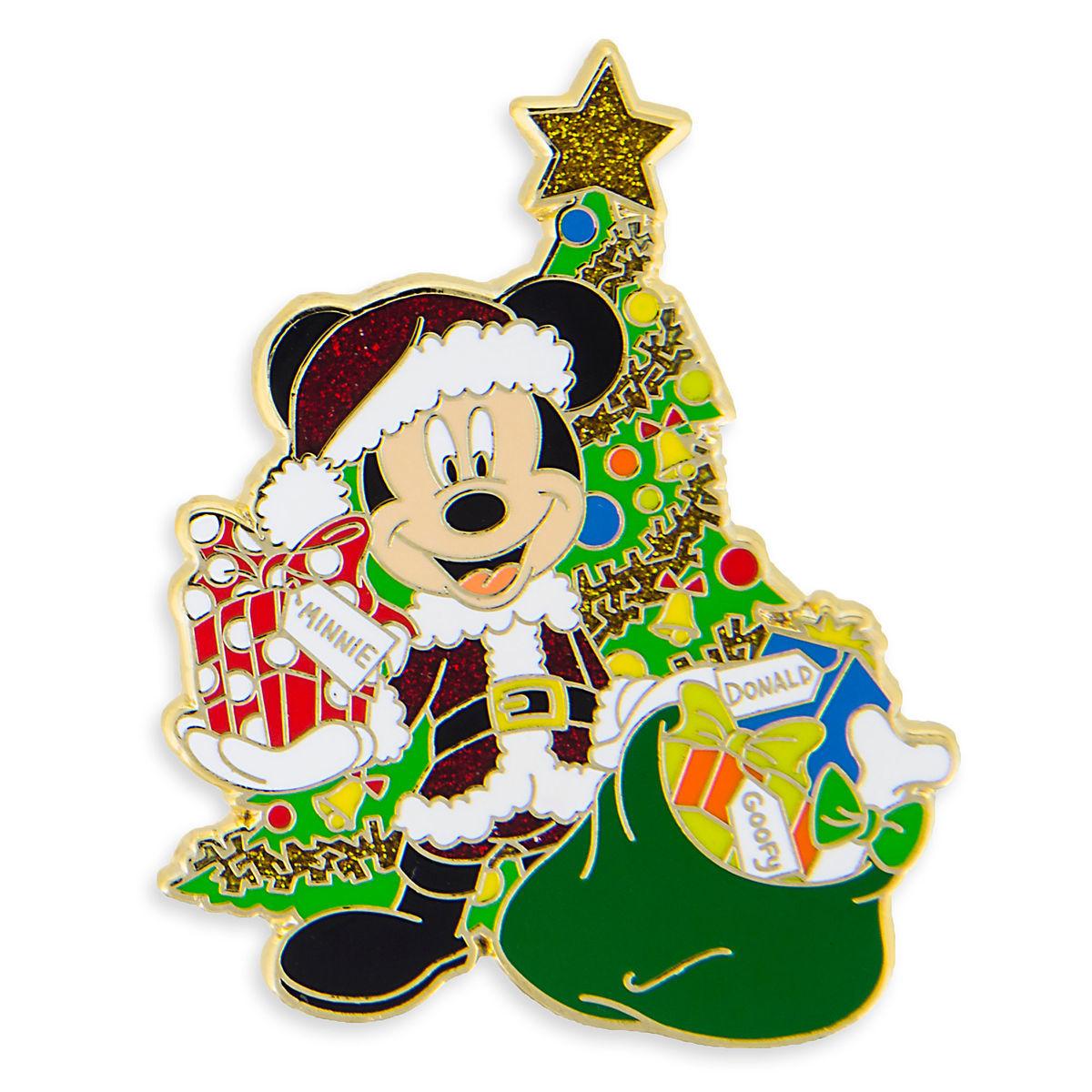 Disney Holiday Pin - Santa Mickey Mouse with Christmas Tree