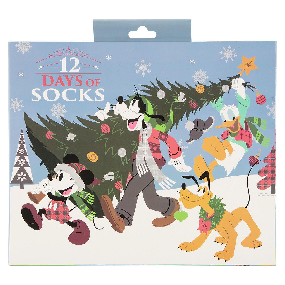 Disney Socks Gift Set 12 Days Of Socks Mickey And Friend