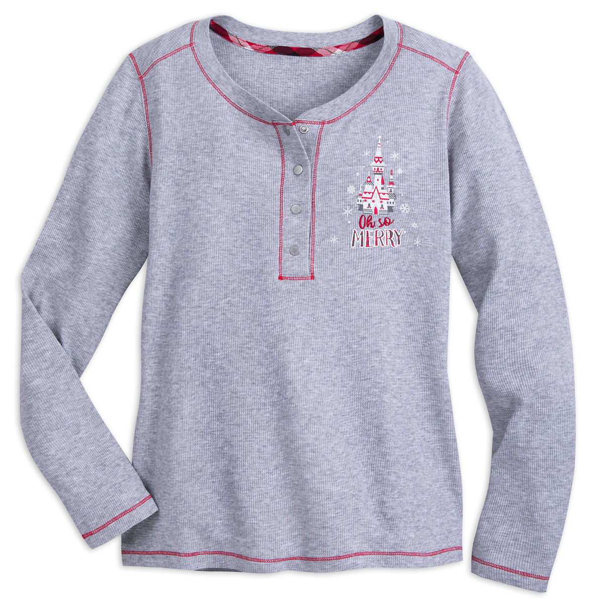 Disney Sleep Shirt for Women - Fantasyland Castle Holiday Thermal