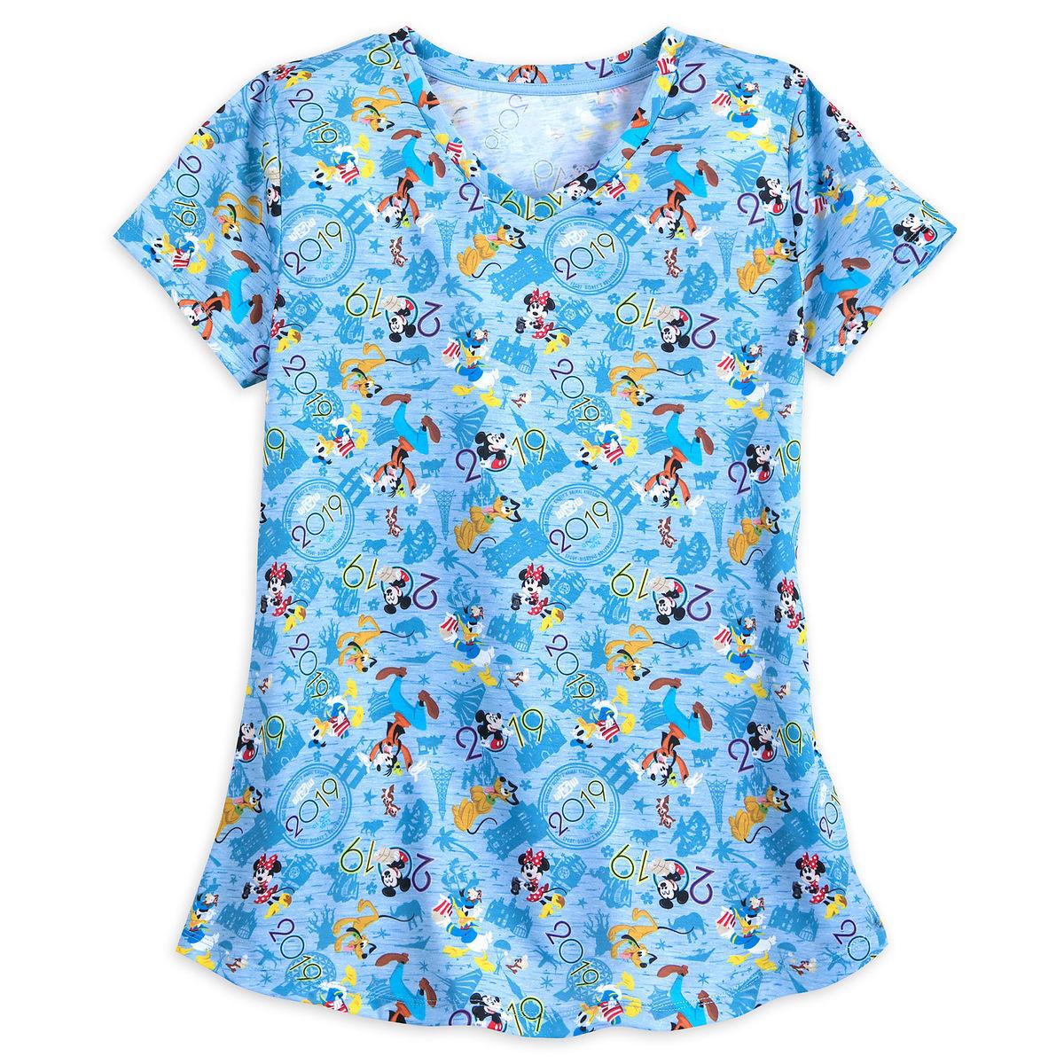 Disney Shirt For Women 2019 Logo Walt Disney World Blue