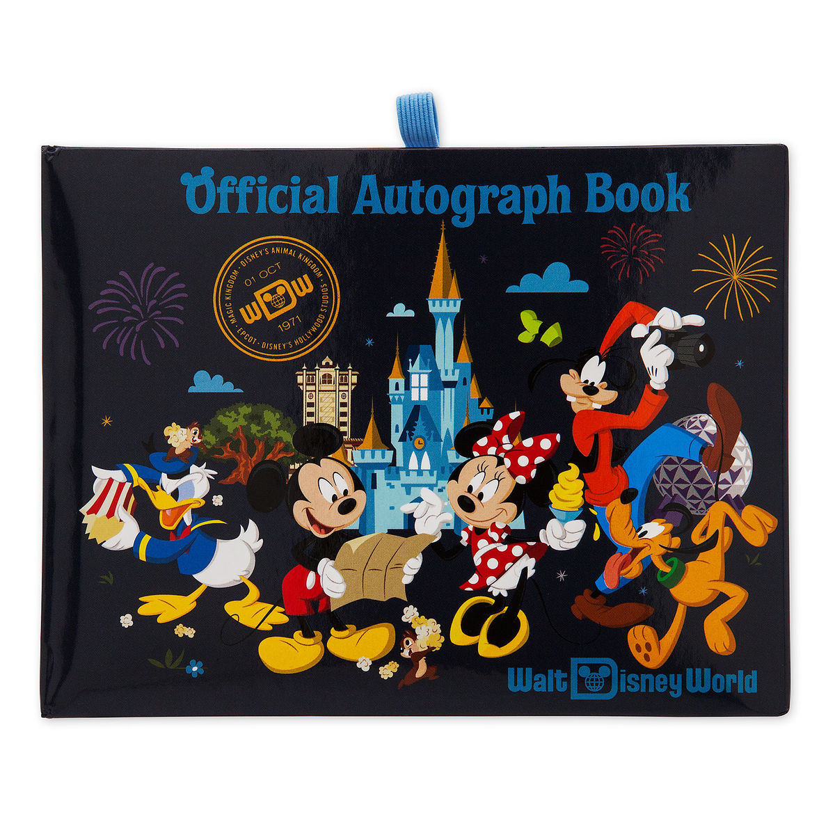 Disney Mickey Autograph Book MICKEY AND FRIENDS BLUE
