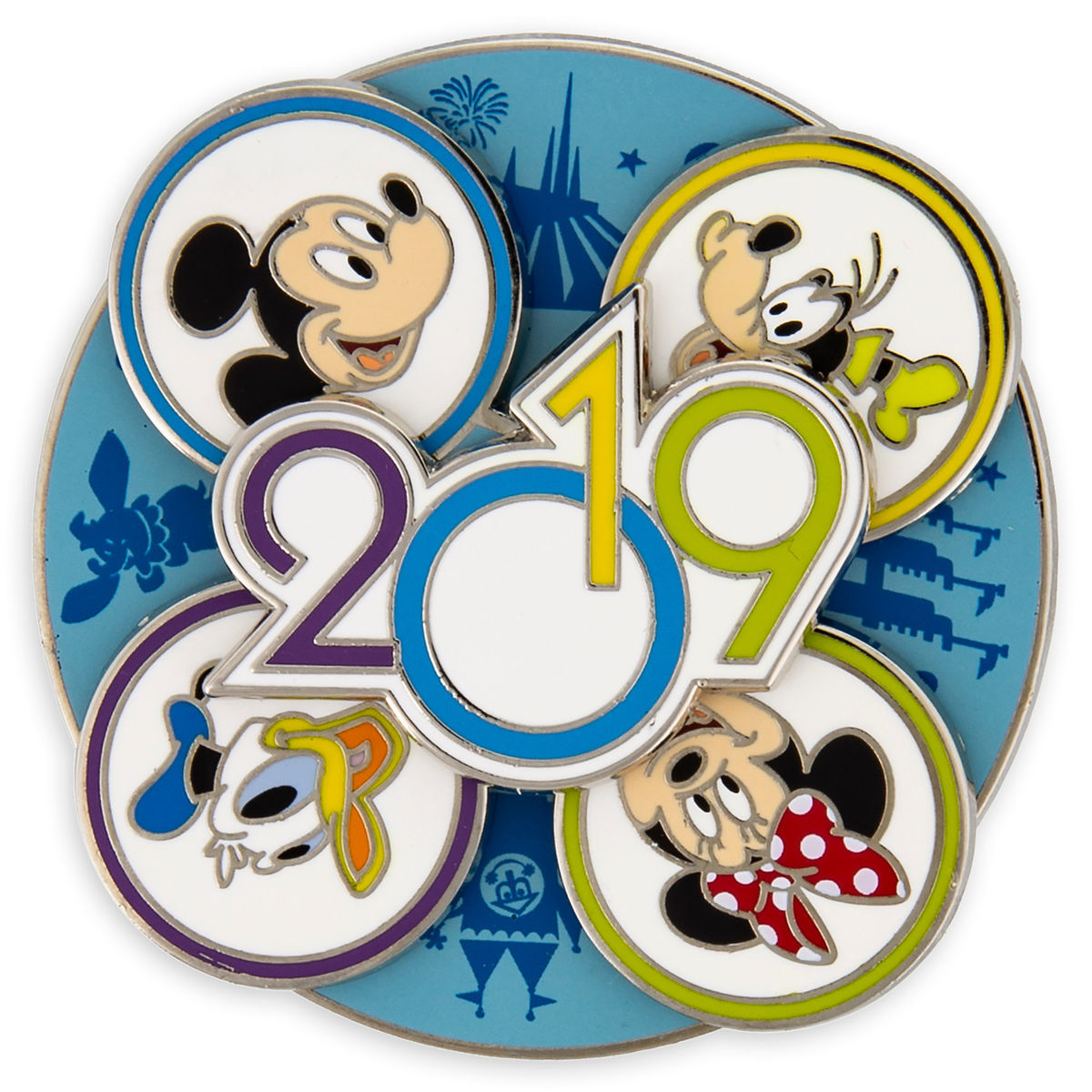 Disney 2019 Pin - Mickey and Friends Spinner - Walt Disney World
