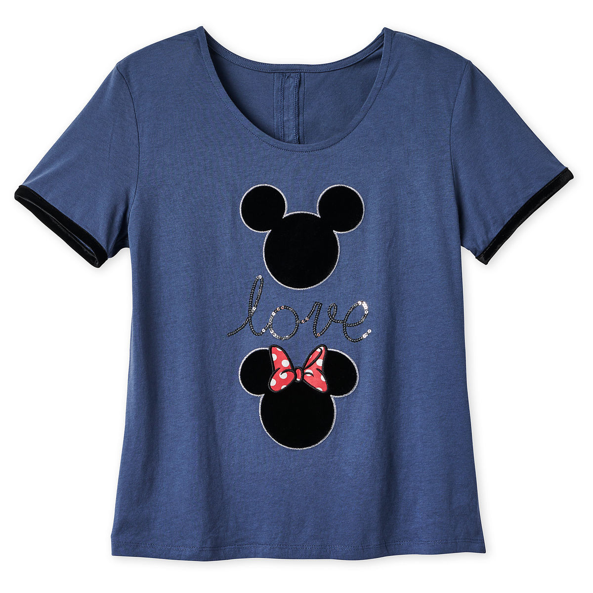 c5a1e7aed Disney T-Shirt for Women - Mickey and Minnie Icon - Love - Blue