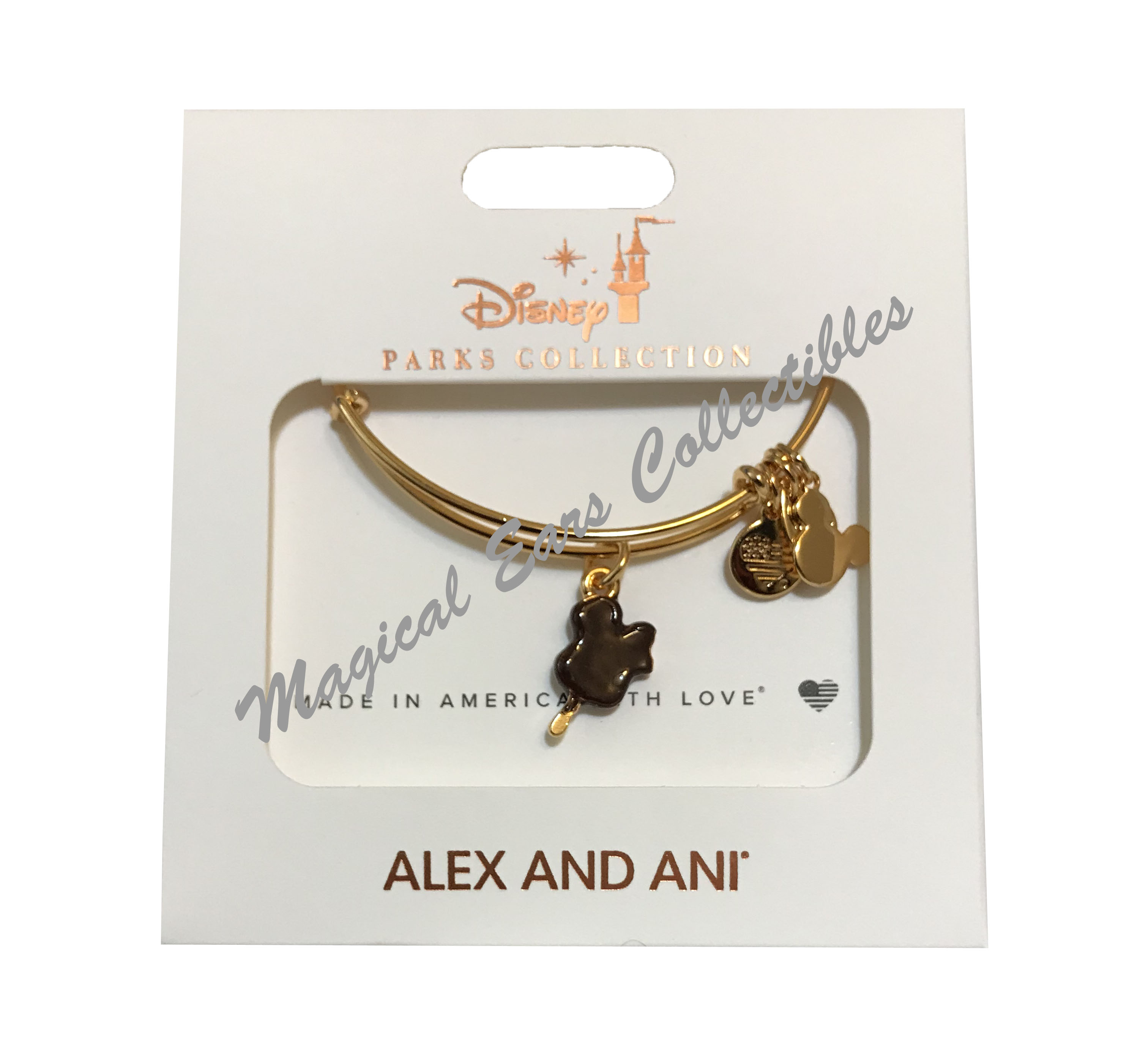 Details about  /NEW Disney Alex and Ani It All Started With A Mouse GOLD Mickey Bangle Bracelet