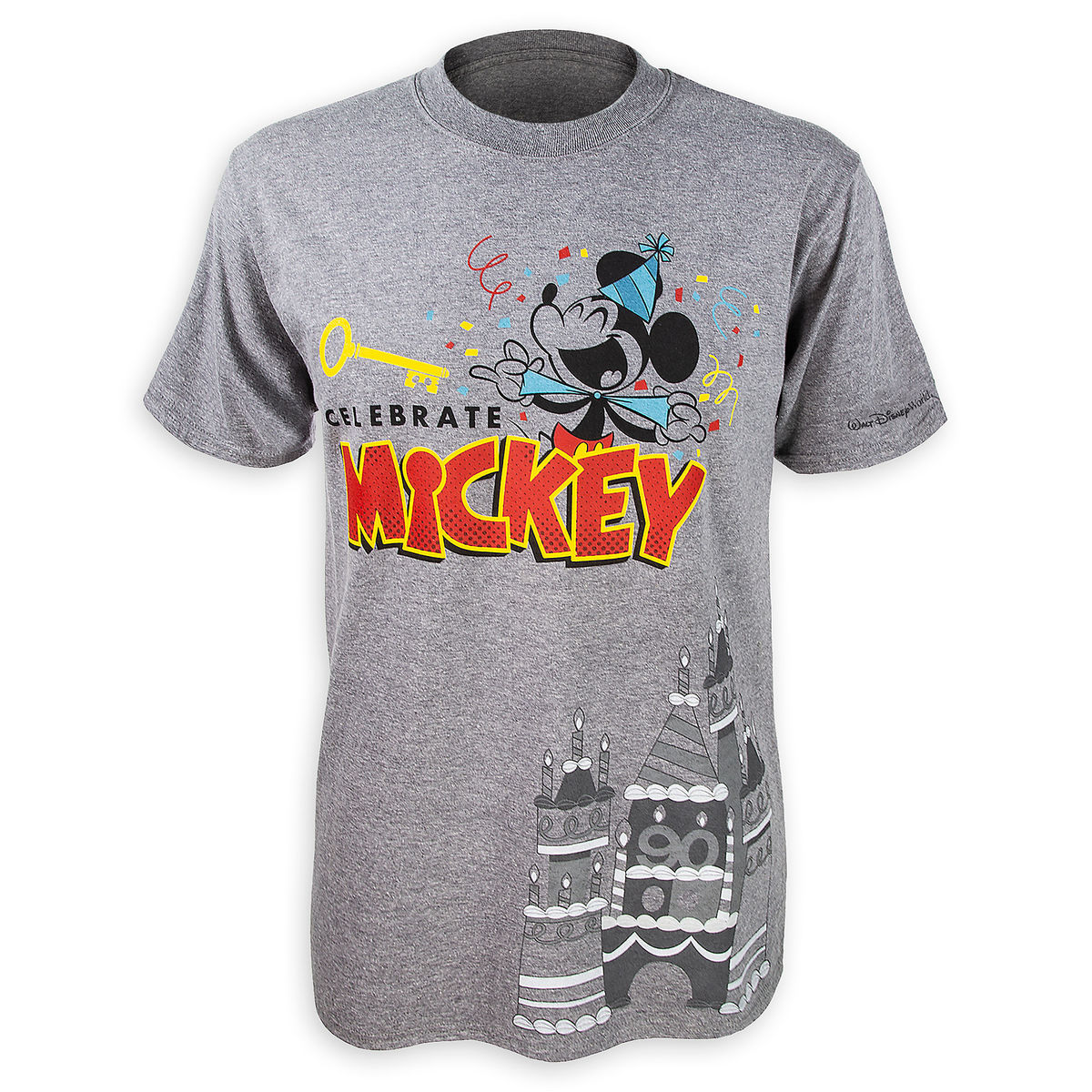 e02ac936b Disney T-Shirt for Men - Celebrate Mickey - Gray
