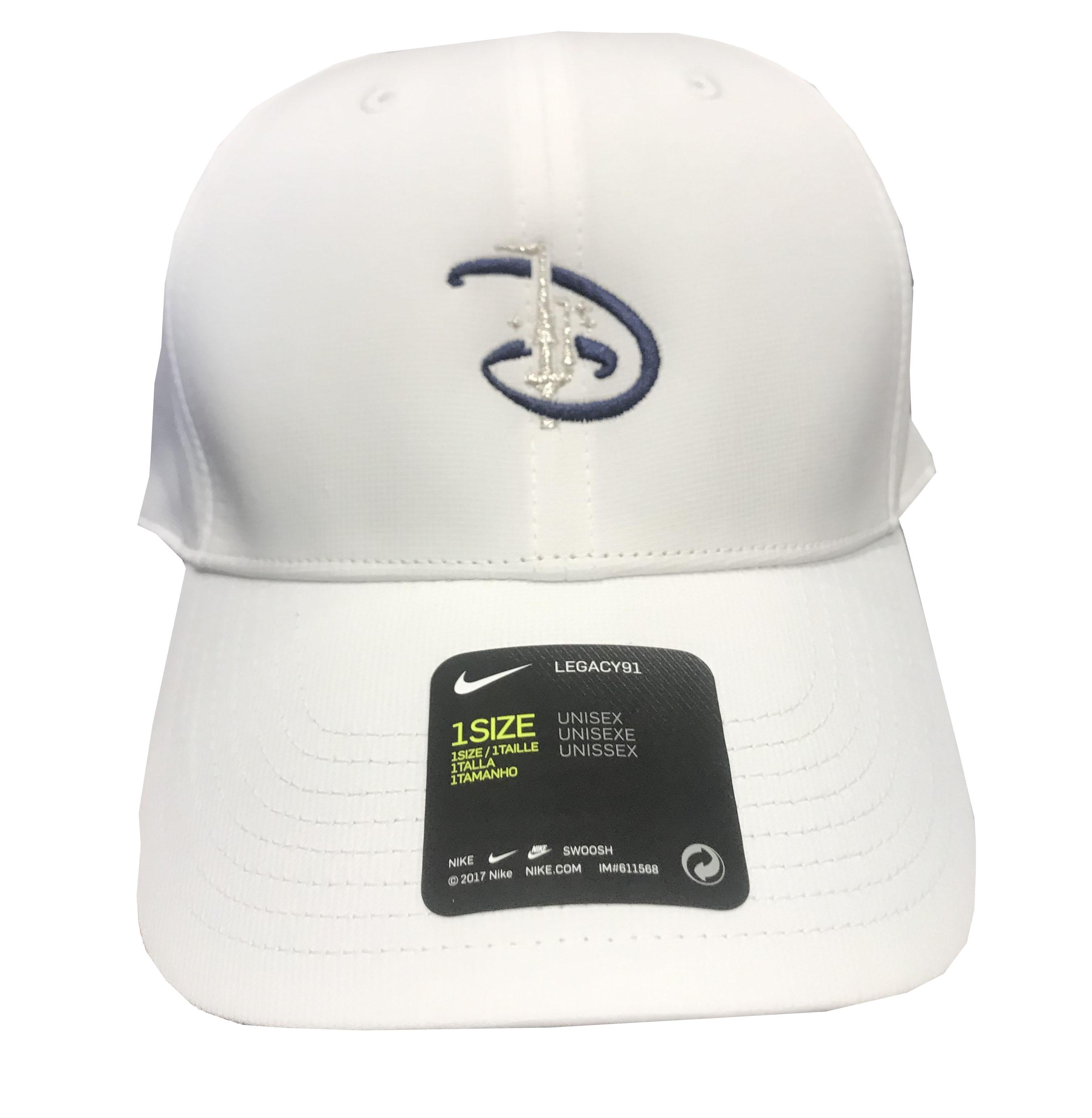Disney Hat - Nike Baseball Cap - Walt Disney World - White 2cd3d6f756b