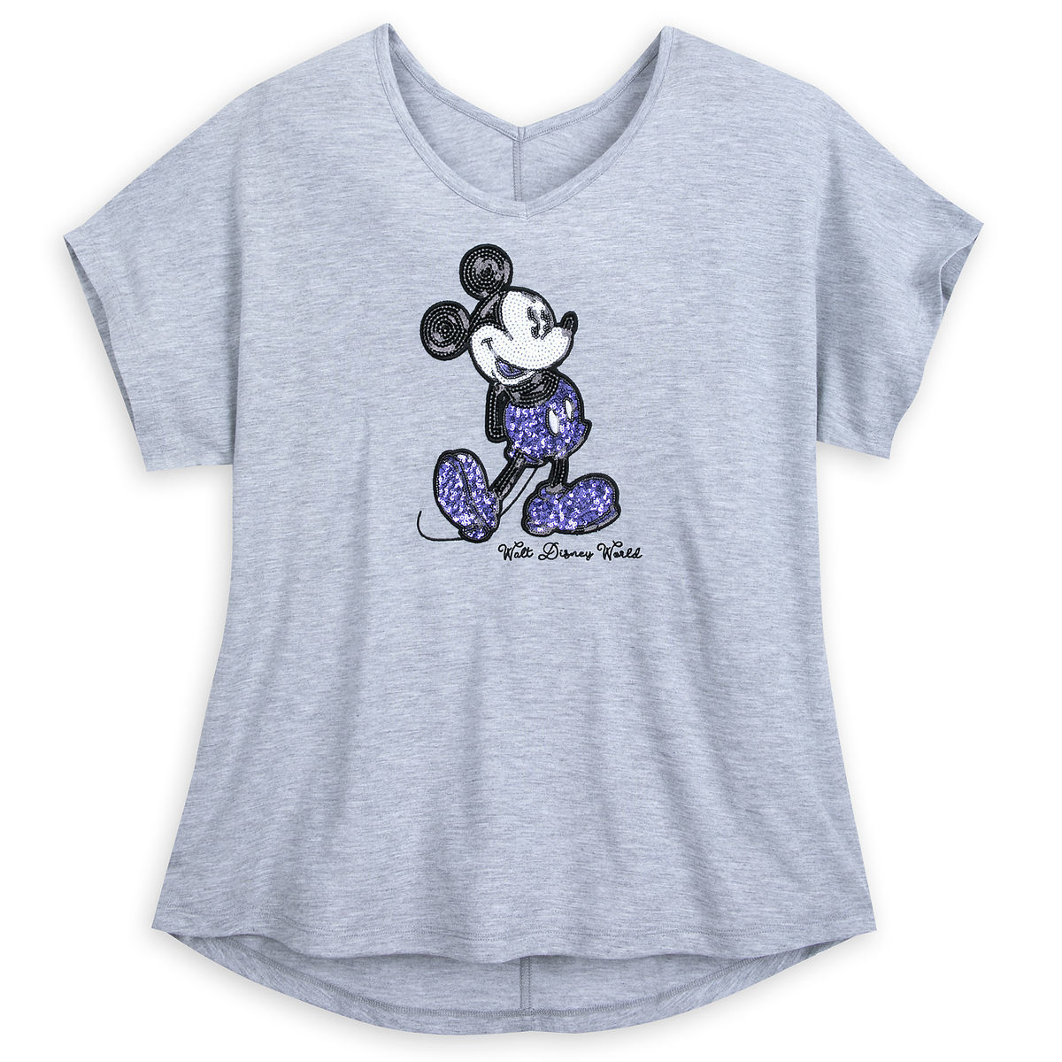 Disney Shirt for Women - Mickey Mouse Sequined - Potion Purple