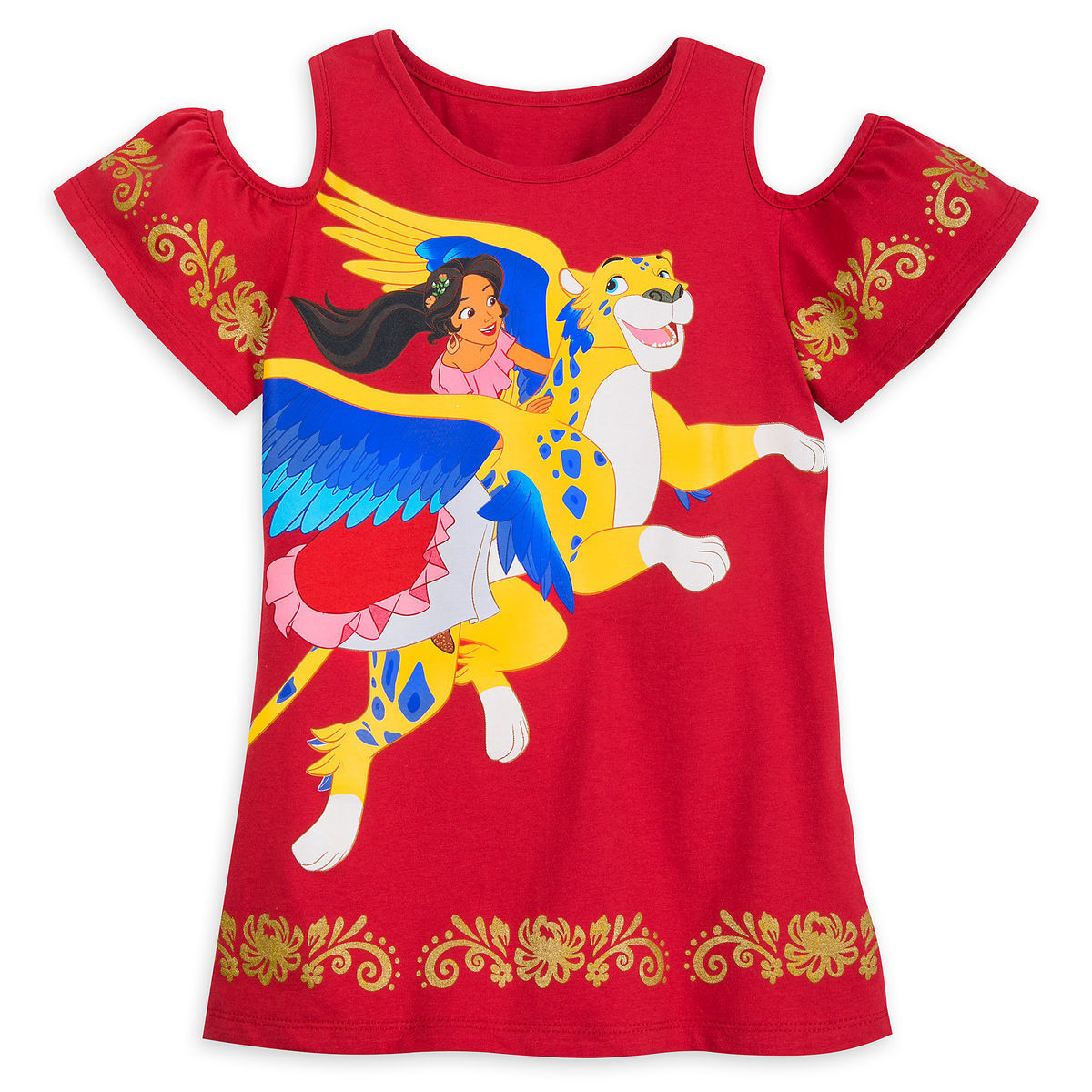 09fce144 Disney Shirt for Girls - Elena and Skylar - Elena of Avalor - Red