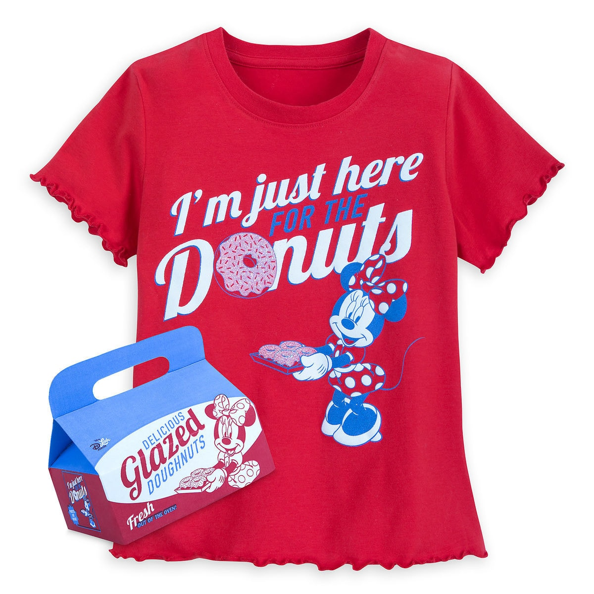 fcdb99ed Disney Shirt for Girls - Minnie Mouse Donuts - Red
