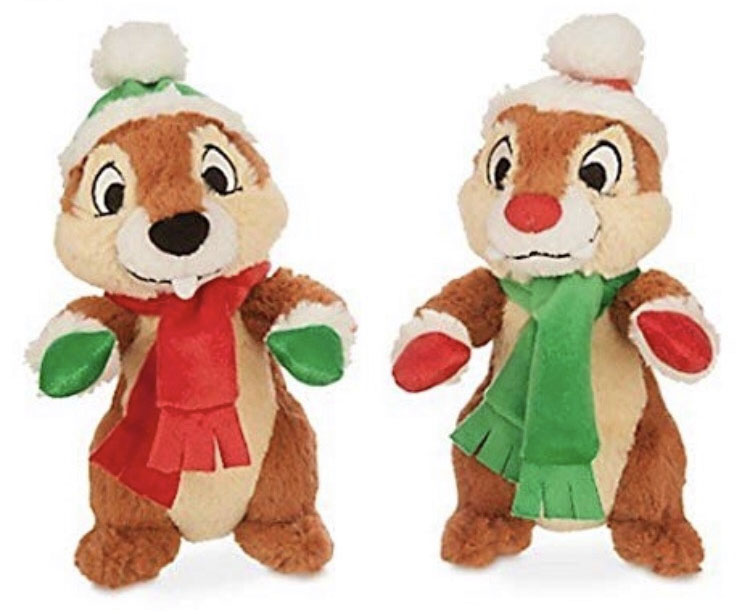 Disney Plush - Santa Chip and Dale Plush Set