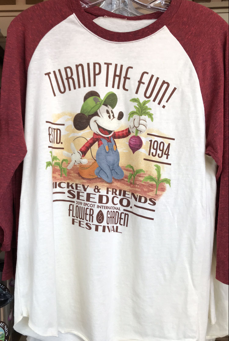 Disney Adult Shirt - Flower and Garden 2019 - Mickey Seed Co  - Raglan