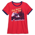 Disney Shirt for Women - I'm here for the Photos - Red