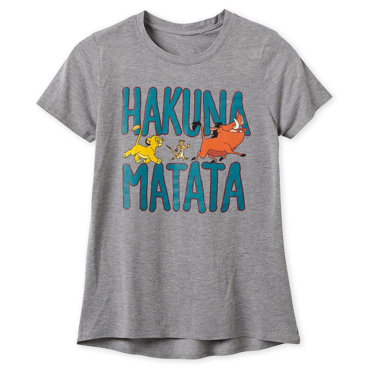 500b0b34 Disney T-Shirt for Women - Lion King - Hakuna Matata - Gray