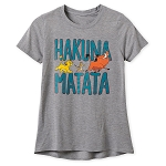 Disney T-Shirt for Women - Lion King - Hakuna Matata - Gray