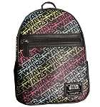 Disney Loungefly Backpack - Star Wars Logo - Colorful