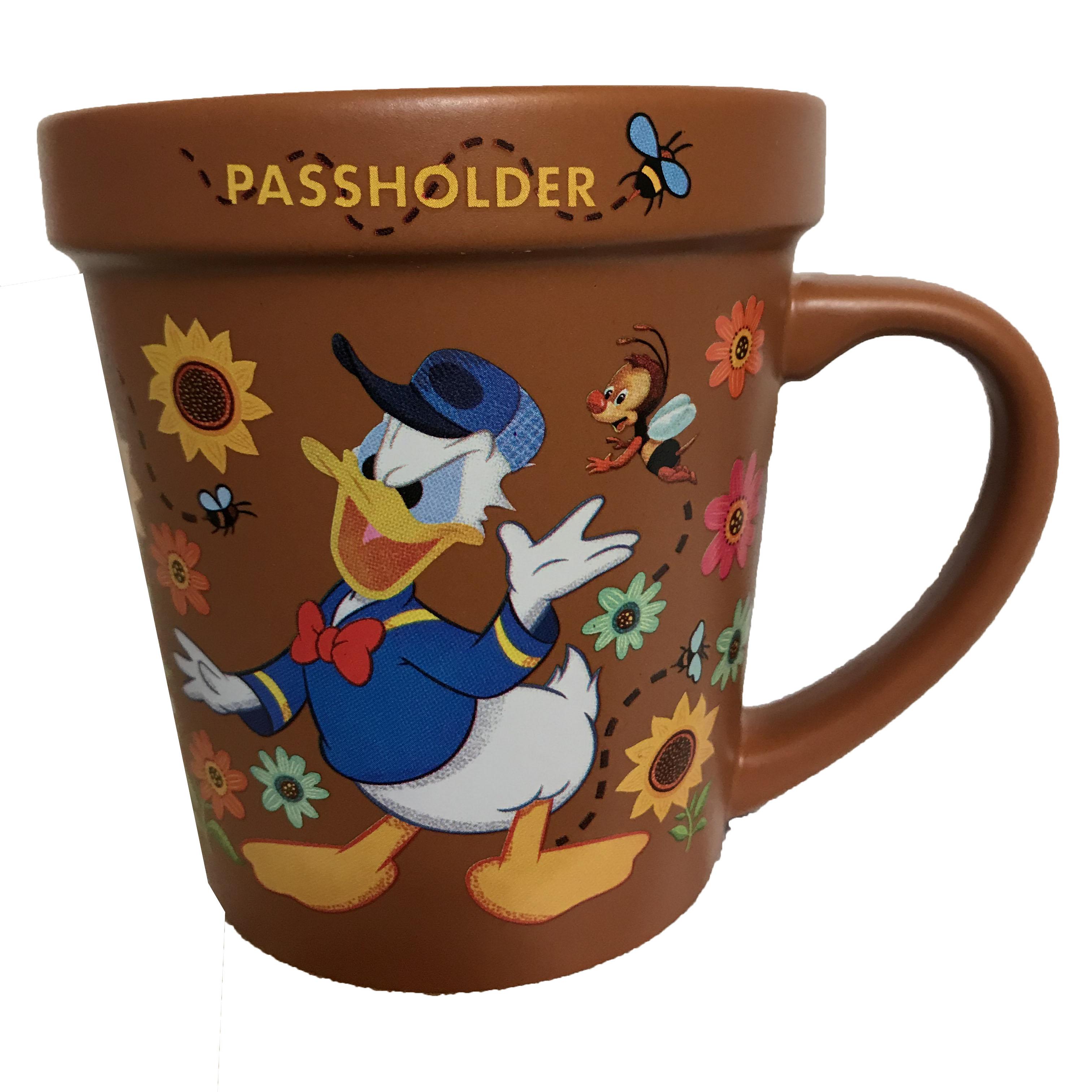 Mug Garden Passholder Coffee And Flower Duck Donald 2019 Disney kOPn08w